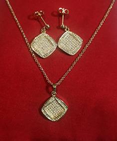0dc5e2f49718 Juego De Collar Pulsera Aretes Oro Laminado - Joyería en Mercado Libre  México