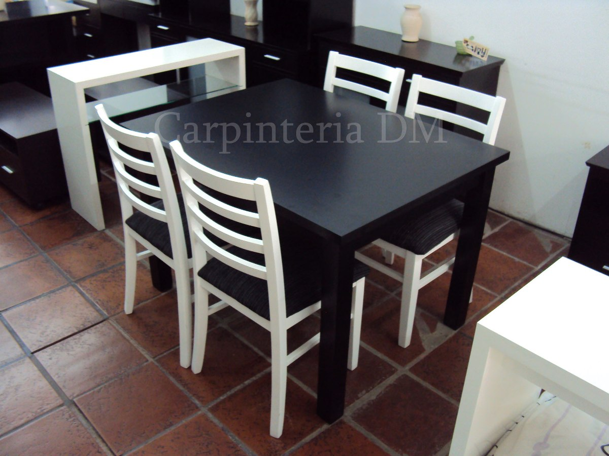 Sillas blancas comedor excellent ms productos with sillas for Comedor 4 sillas moderno