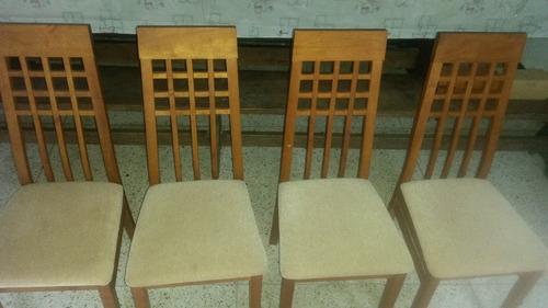 juego de comedor 4 puestos en madera