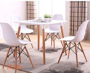 juego de comedor 4 puestos moderno sillas eiffel restaurante