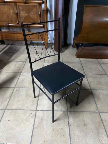 juego de comedor 4 sillas en madera y metal