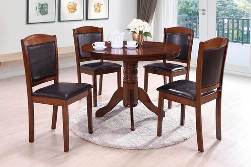 juego de comedor 4 sillas redondo color roble precioso