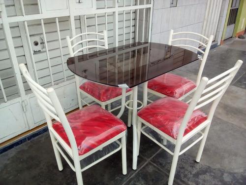 juego de comedor 4 sillas totalmente nuevo