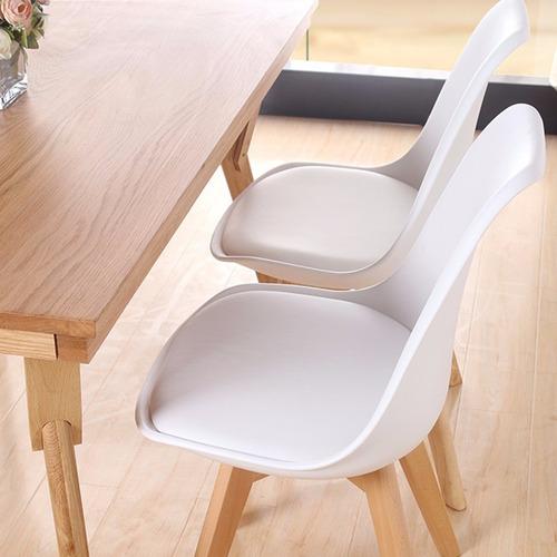 juego de comedor 4 sillas tulip + mesa 1,20x70 tapa blanca