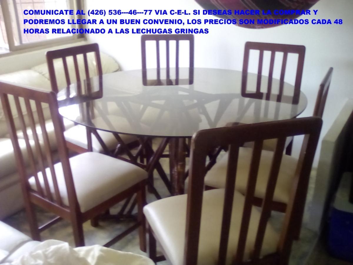 juego de comedor redondo juego de comedor 6 sillas base de bambu y vidrio redondo