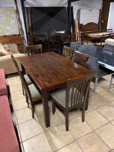 juego de comedor 6 sillas de altea en madera , como nuevo