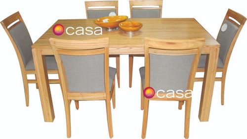 juego de comedor 6 sillas de paraiso