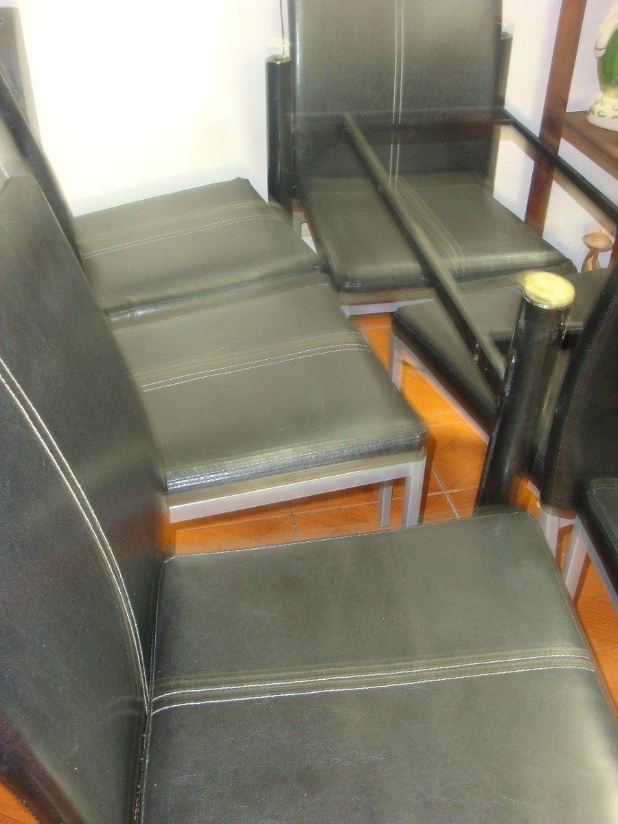Juego de comedor 6 sillas en cuero 200 en - Sillas en cuero ...