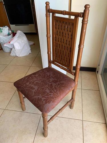 juego de comedor 6 sillas en madera de cenizaro