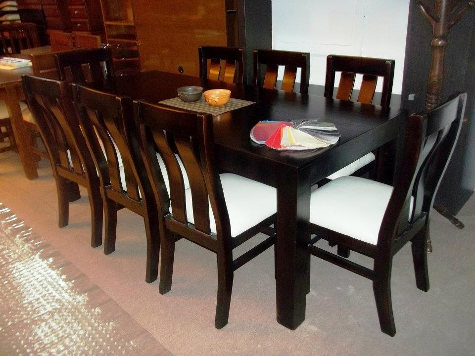 juego de comedor 8 personas mesa sillas en