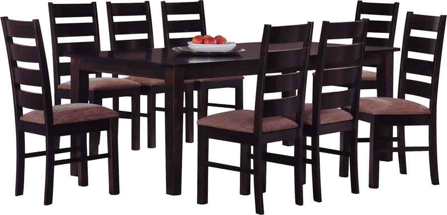 Juego de comedor 8 sillas comedor de madera divino 24 for Comedor 8 sillas madera