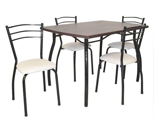 juego de comedor caño pintado 6 sillas mesa laminada jh021