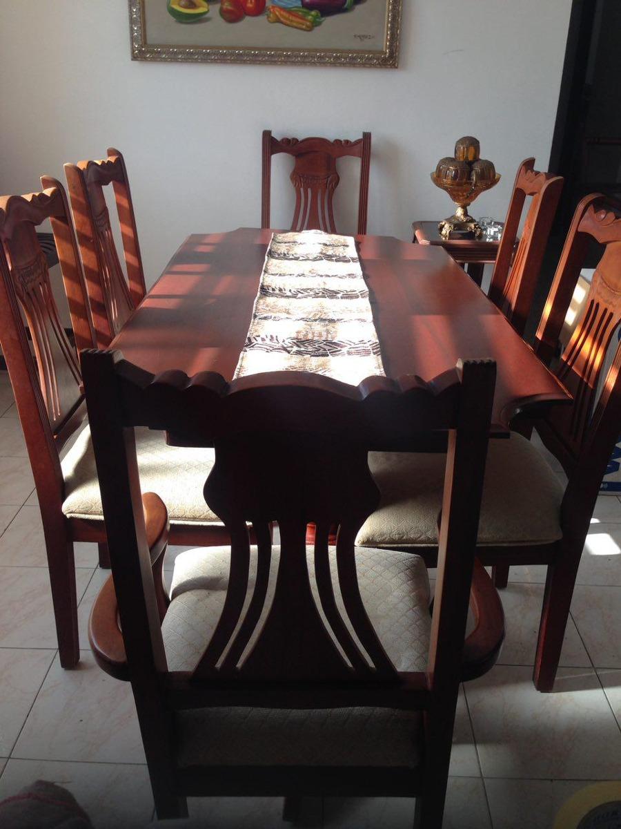 Juego de comedor caoba 6 sillas 45 en mercado libre for Comedor 6 sillas usado