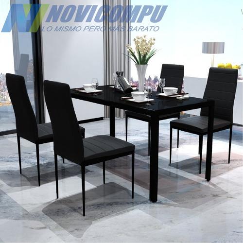 juego de comedor con 4 sillas, elegante, de alta calidad
