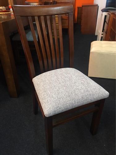 juego de comedor con 4 sillas madera maciza eucaliptus
