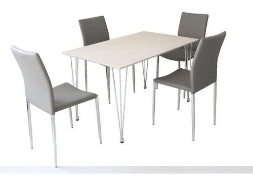 juego de comedor con 4 sillas ref 9014 mesa rectangular caño