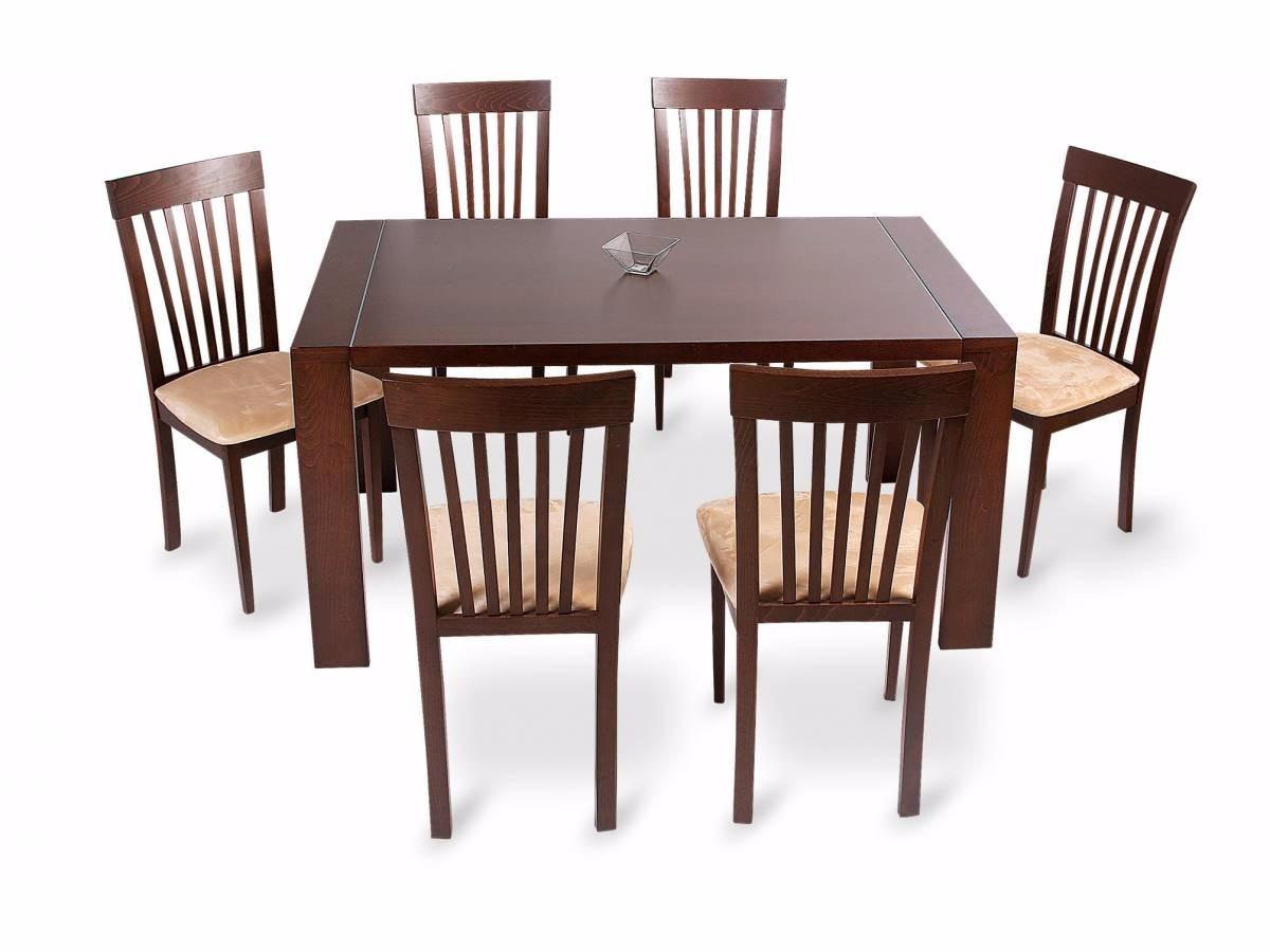 Juego de comedor con 6 sillas concept madera mesa for Comedor de madera 6 sillas