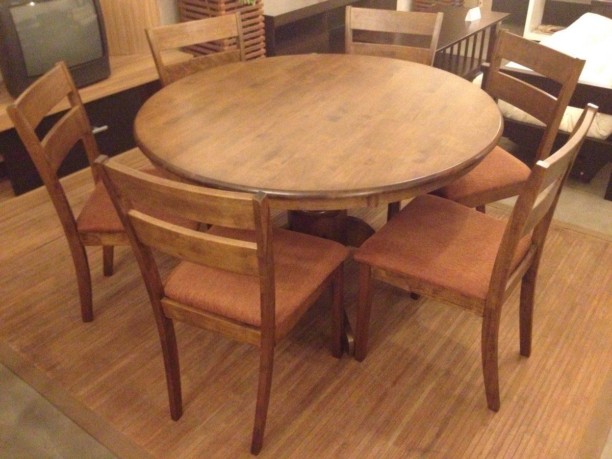 Juego de comedor con 6 sillas redondo 5882 u s 698 00 en for Comedor de madera 6 sillas
