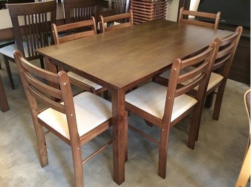 Juego de comedor con 6 sillas ref 750 mesa rectangular u for Precio juego de comedor con 6 sillas