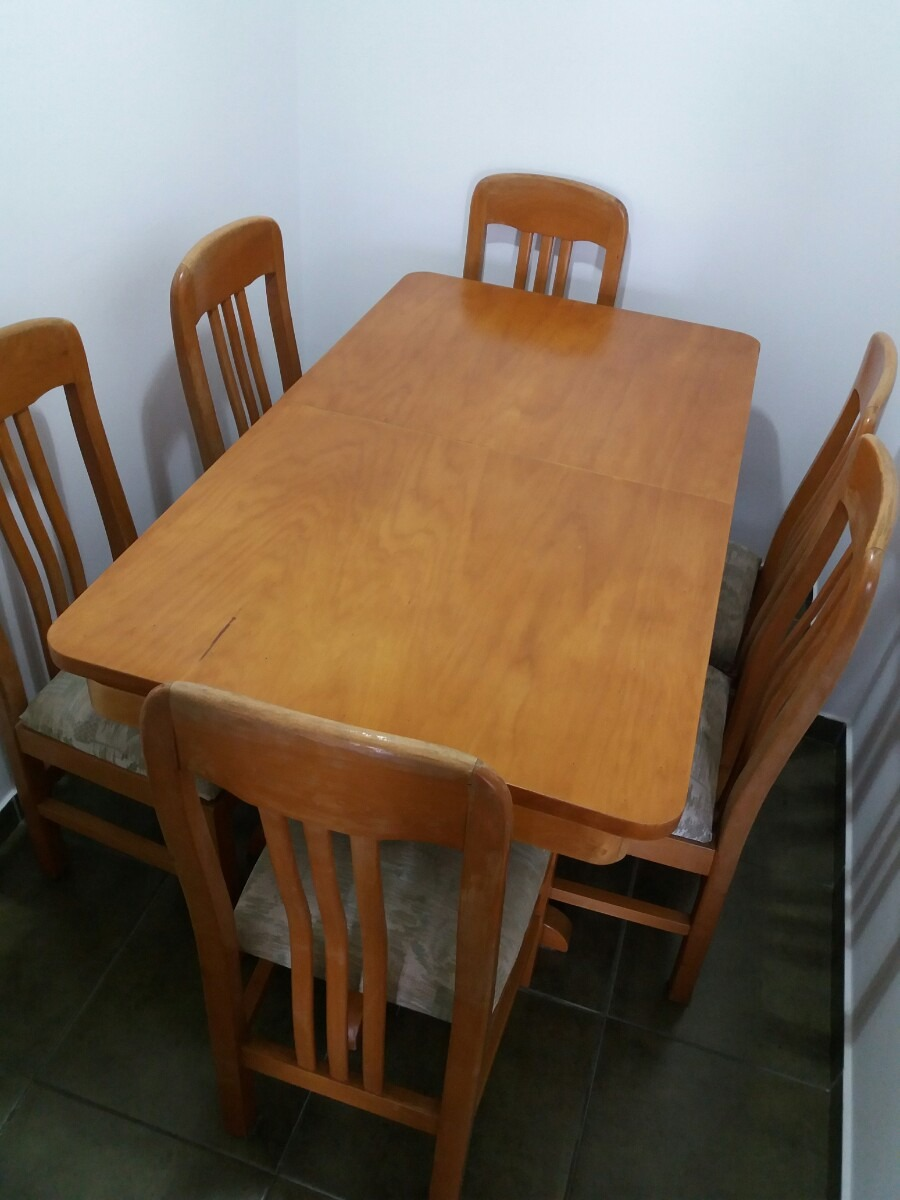Juego de comedor con 8 sillas en mercado libre for Comedor 8 sillas usado