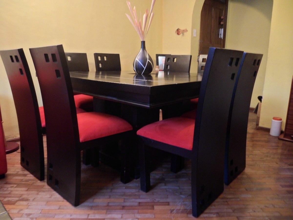Juego de comedor cuadrado de 8 puestos moderno como nuevo for Juego de comedor de 8 sillas moderno