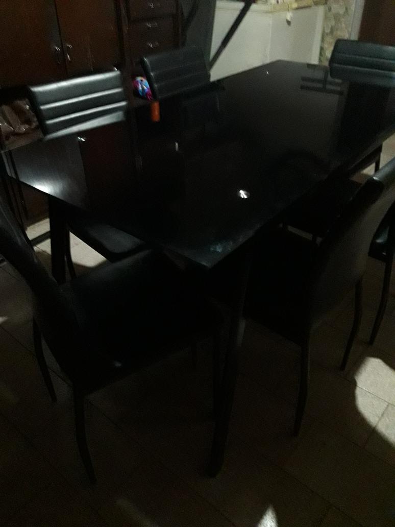 5ce5c746a96 juego de comedor dartagnan 1 mesa + 6 sillas 160 x 78 cm. Cargando zoom.