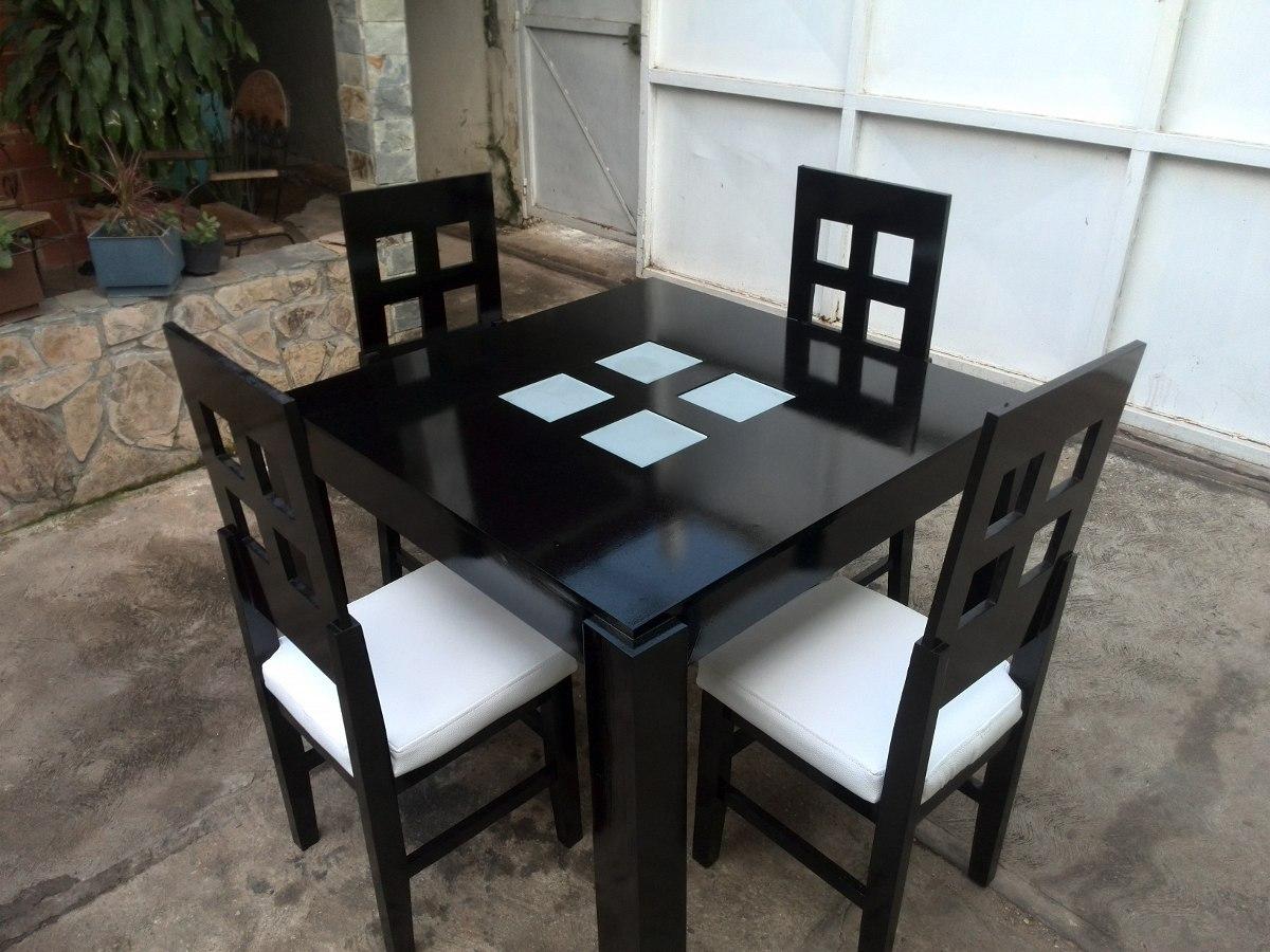 Juego de comedor de 4 sillas bs en mercado libre for Juego de comedor 4 sillas moderno