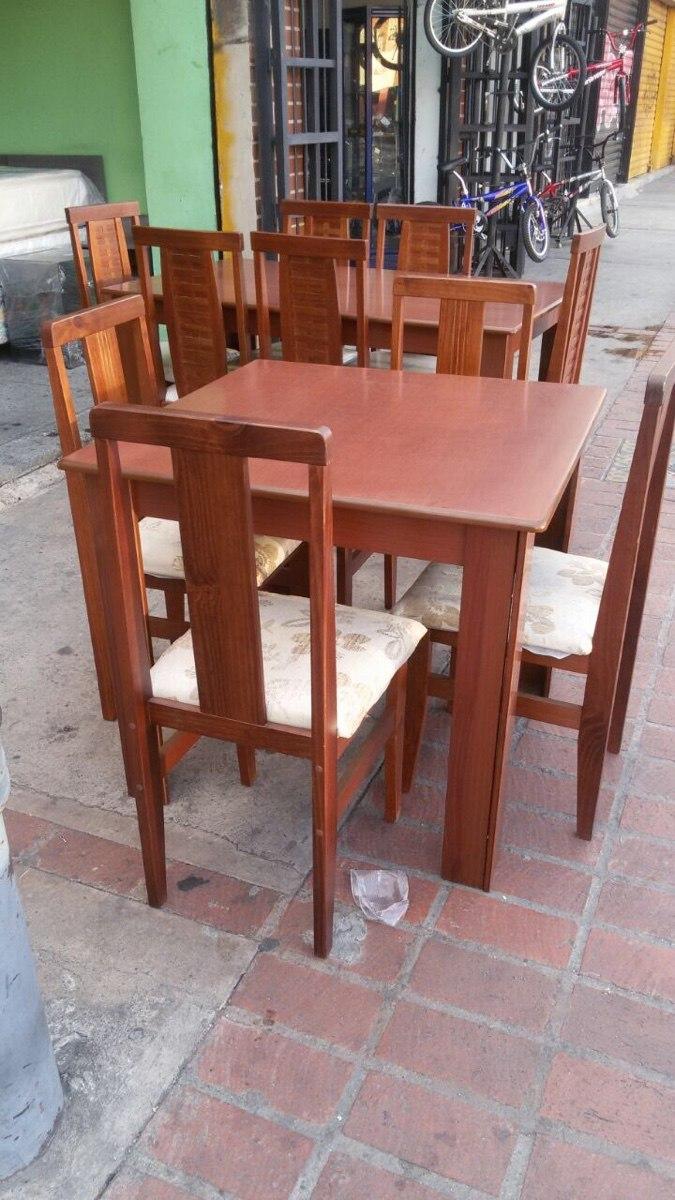 Juego de comedor de 4 sillas en madera teca bs for Comedor 4 sillas madera