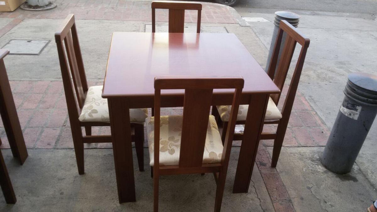 juego de comedor de 4 sillas en madera teca bs