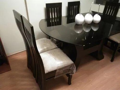 Juego de comedor de 6 sillas en madera tornillo a 1100 s for Comedores redondos modernos