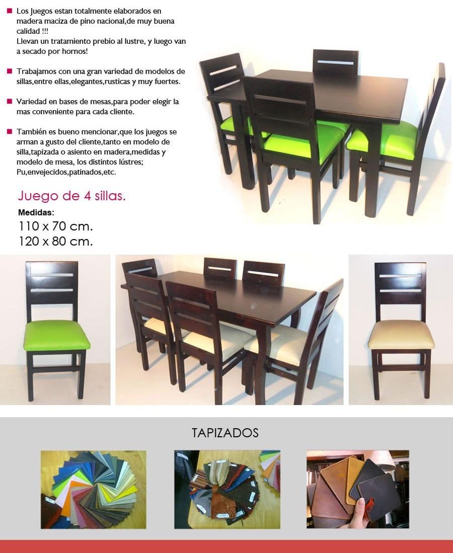 Juego de comedor de 6 sillas macizo en for Comedor 6 sillas usado