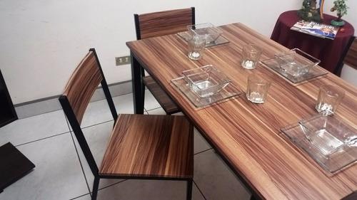 juego de comedor denver con 4 sillas
