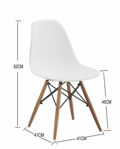 juego de comedor eames - 2 sillas - mesa redonda