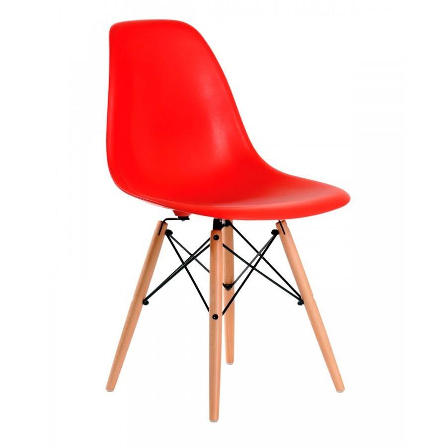 Juego de comedor eames mesa y4 sillas patas madera for Mesa de comedor 4 sillas