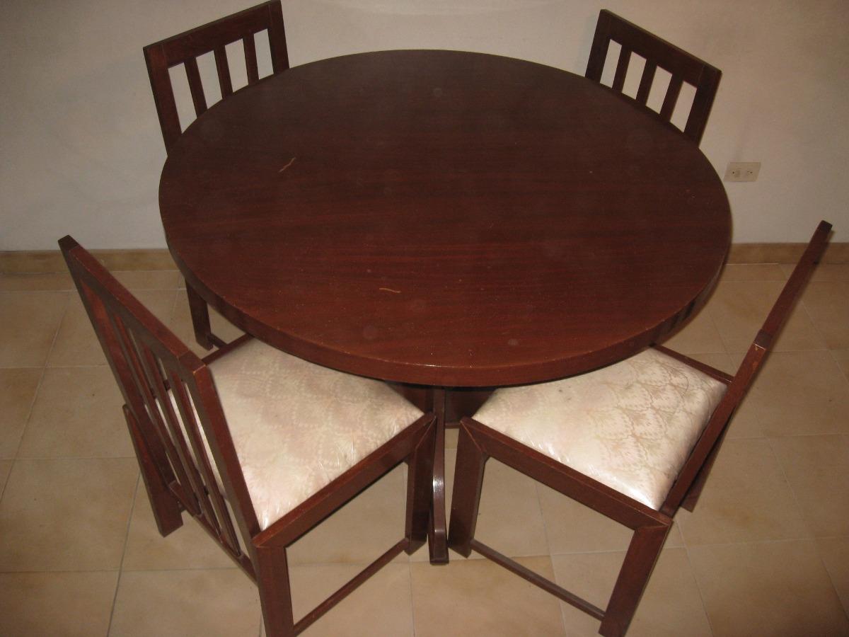 Juego de comedor en madera con 4 sillas bs for Comedor de madera 4 sillas
