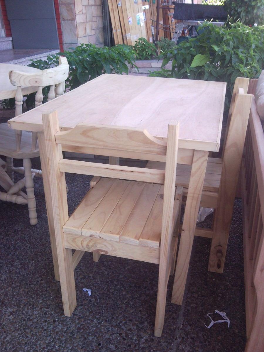 Juego de comedor en madera economico y resistente 2 for Juego de comedor economico