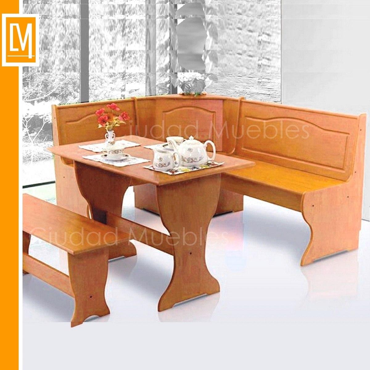 Bancos esquineros para cocina bancada de cocina en compac for Banco esquinero con mesa