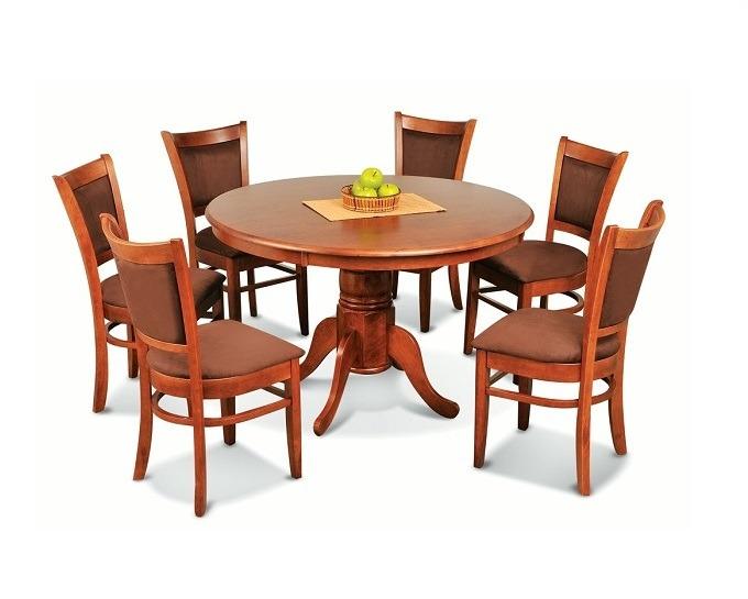 Juego de comedor fendy mesa redonda 6 sillas plakards for Juego de comedor de cocina