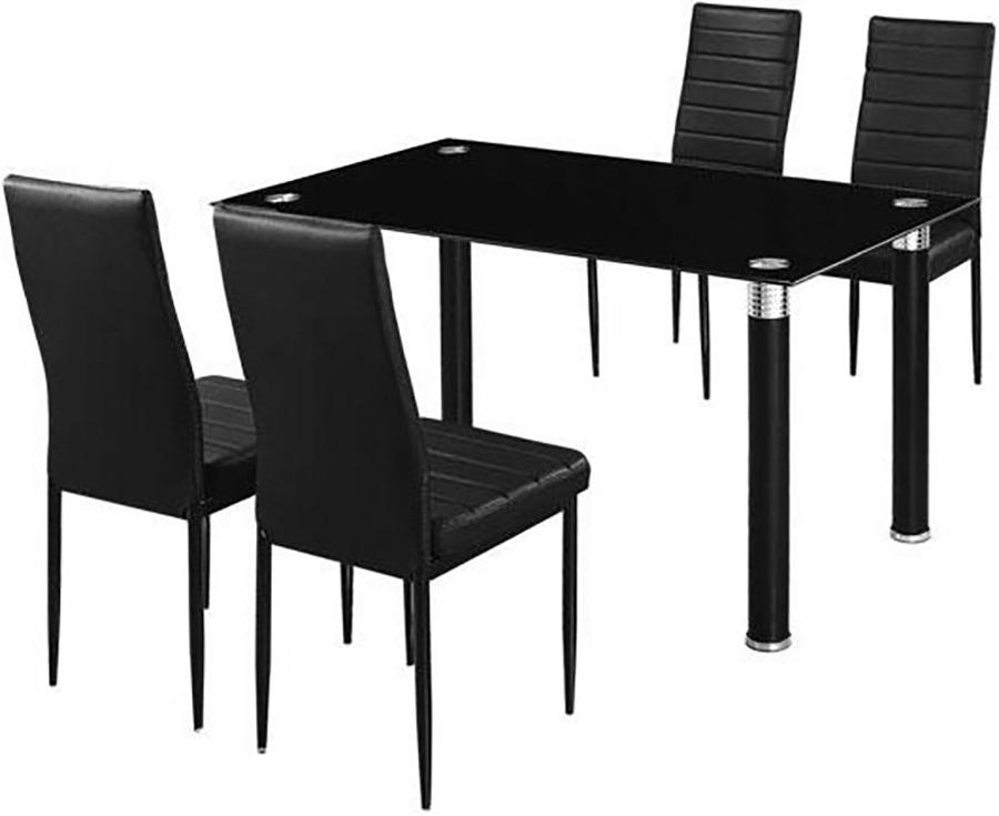 Juego de comedor juego comedor 4 sillas negro divino 4 for Juego de comedor 4 sillas