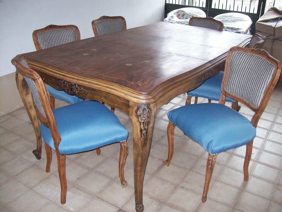 Design mesa comedor luis xv galer a de fotos de for Sillas comedor luis xv