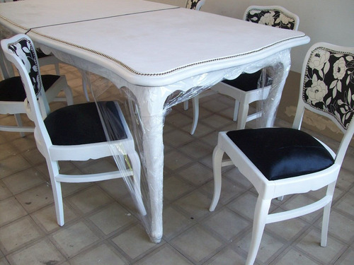 juego de comedor luis xv mesa+6 sillas elegi como lo queres!