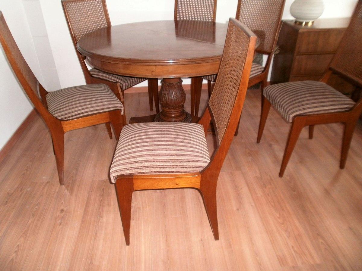 Juego de comedor madera cedro 6 sillas mesa nuevo de for Precio juego de comedor con 6 sillas