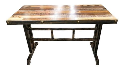juego de comedor madera estilo medieval con 4 sillas