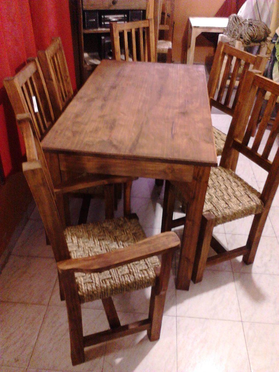 Juego De Comedor Madera Maciza,sillas Tejidas En Cardo ... - photo#22