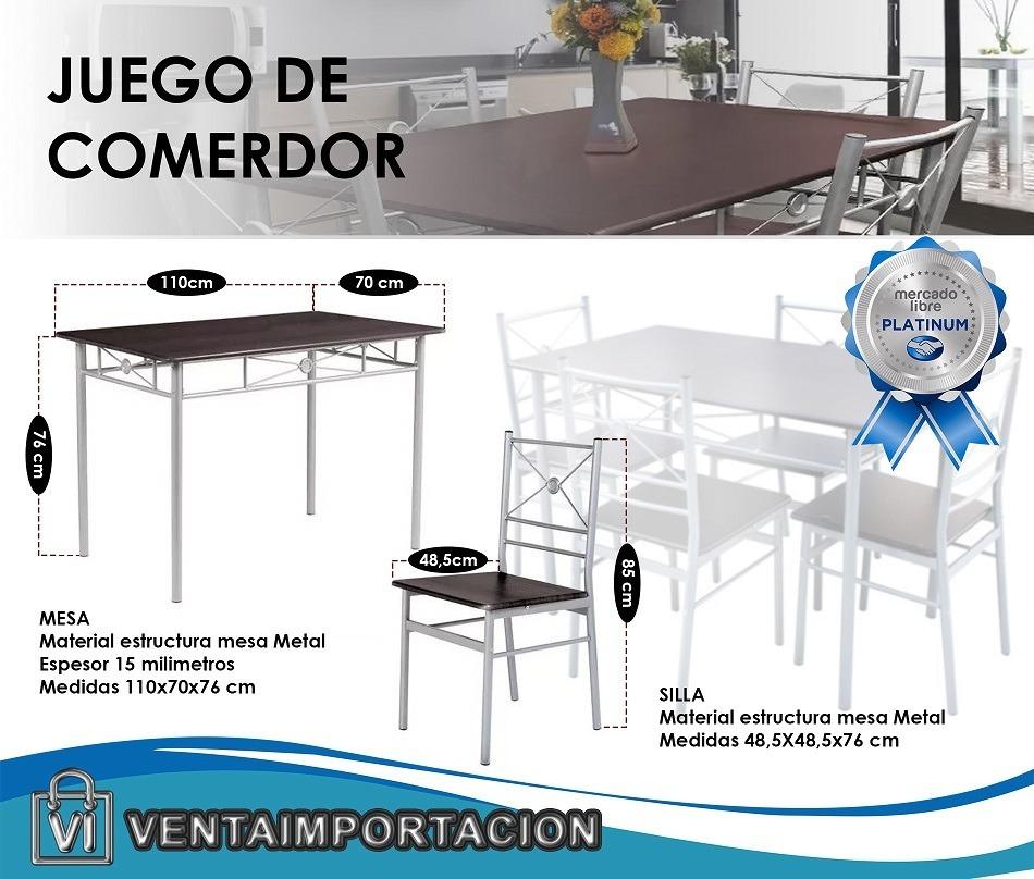 Juego De Comedor Mesa + 4 Sillas Cocina Living Mesas Oferta ...
