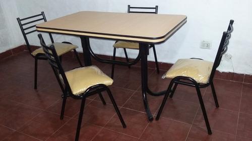 juego de comedor mesa +4 sillas de caño apilables!!!