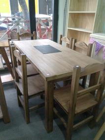 Mesa Con Sillas Para Cocina Rusticas - Hogar, Muebles y Jardín en ...