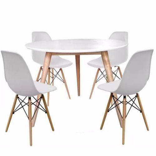 Juego de comedor mesa 80cm 4 sillas eames rebajas for Mesa de comedor 4 sillas