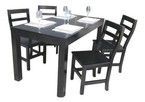 juego de comedor  mesa asia living madera laqueada