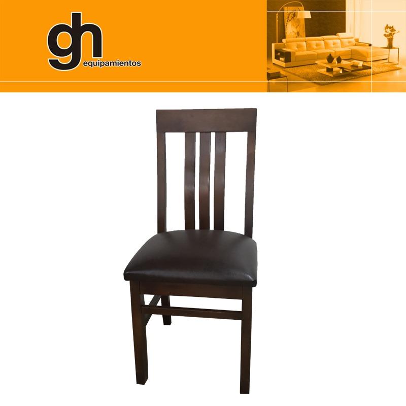 Juego de comedor mesa con 6 sillas tapizadas sillones gh for Sillones para mesa comedor